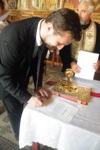 Florin I. Bojor, depune juramântul de credinta crestina