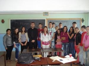 Florin Bojor si elevii de la Beclean