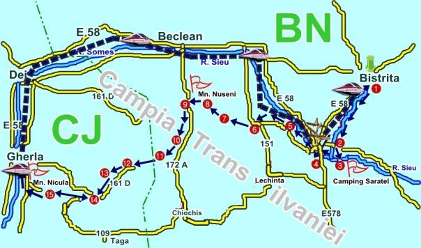 Harta Excursie cu Bicicleta