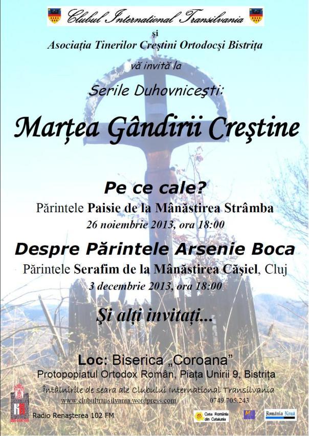 Martea Gandirii Crestine Craciun 2013