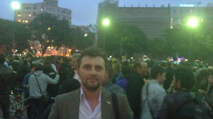 Florin I. Bojor - manifestatie Barcelona
