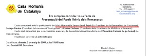 Jordi Pujol invitatie PIRUM