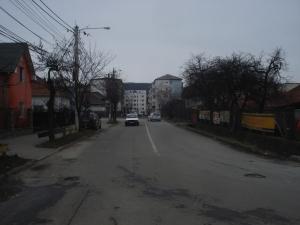 Trecere la nivel cu calea ferata la strada Romana din Bistrita