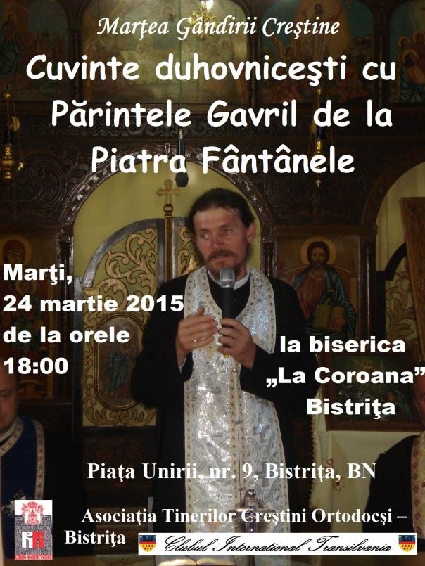 Cuvinte duhovniceşti cu Părintele Gavril de la Piatra Fântânele