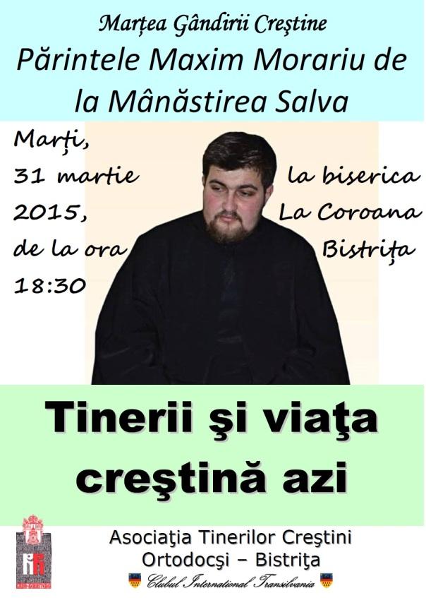 Părintele Maxim Morariu la Marţea Gândirii Creştine