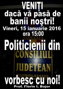 Dezbatere Buget Consiliul Judetean BN 2016