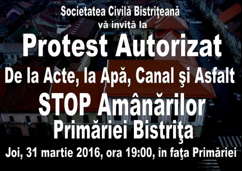 Protest Primaria Bistrita - Stop amanarilor