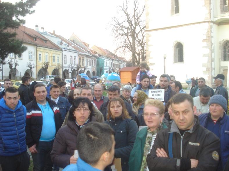 Protest Primarie Bistrita