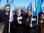 Mihai Ghimpu cu unionistii Bistriteni