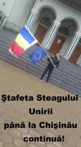 Stafeta Steagului Unirii cu Ionut Gabriel Pop