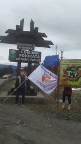Stafeta Steagului Unirii la Pojorata