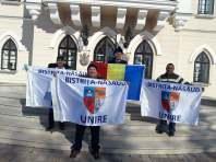 Steagul Unirii BN la palatul lui Cuza, Ruginoasa