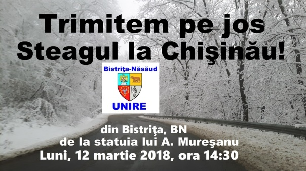Trimitem pe jos steagul la Chisinau