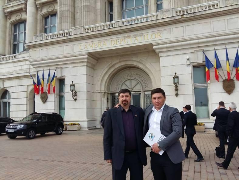 deputatul Constantin Codreanu si Vlad Caragia