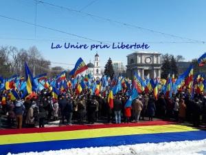 Manifestatie Unire R. Moldova cu Romania