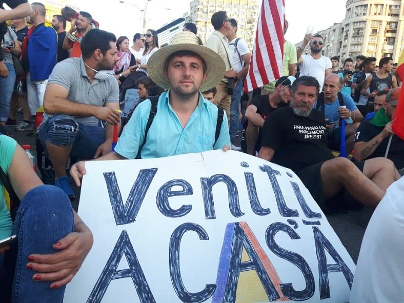 Florin Bojor a doua zi de protest