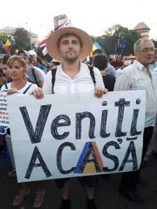 Florin Bojor Protest Bucuresti