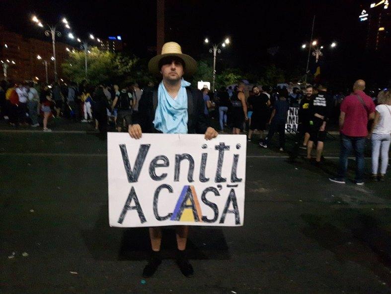 Florin Bojor Protest Piata Victoriei