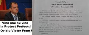 Protest Bistrita Prefectul Ovidiu-Victor Frent