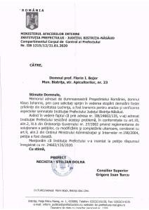 Raspuns pentru Presedintele Romaniei - caz Lechinta